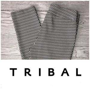 Tribal   Zig Zag Patterned Pull-On Stretch Pant